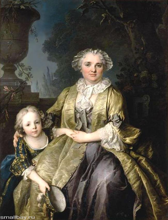 Токе Портрет дамы с дочерью
