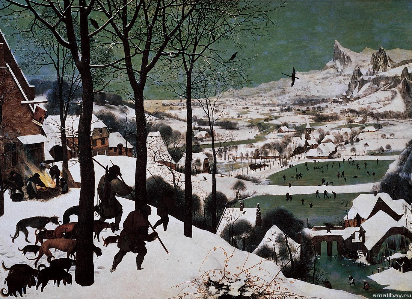 Питер брейгель охотники на снегу