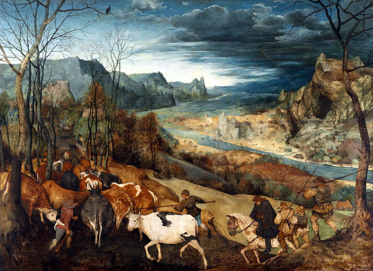 Питер брейгель возвращение стада