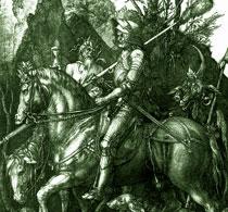 Дюрер Рыцарь Смерть и Дьявол