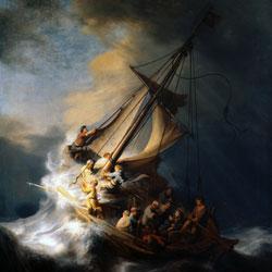 Рембрандт Челн Христа во время бури