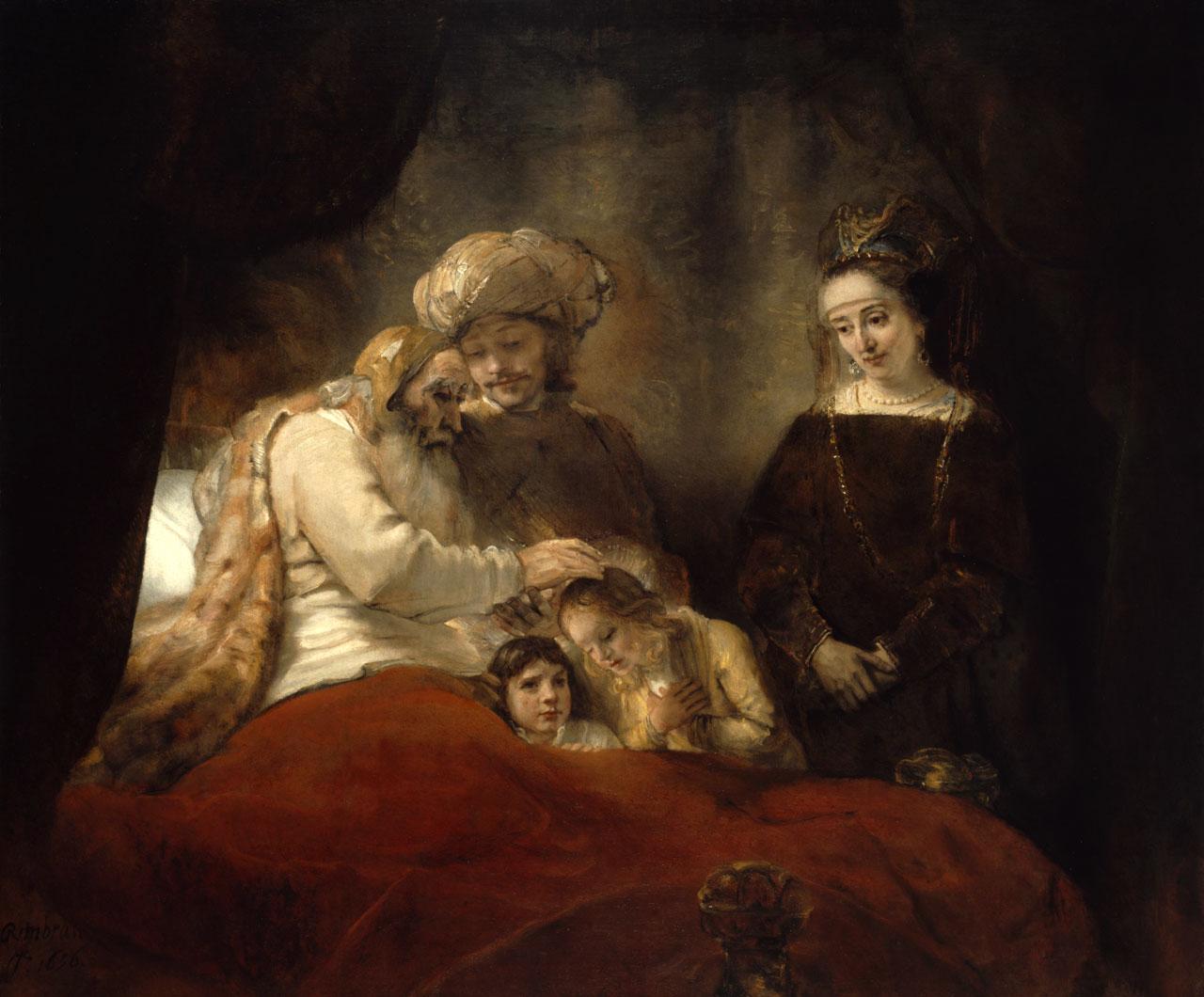 Рембрандт благословление иакова