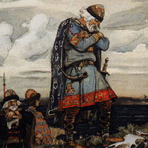 Васнецов Олег у костей коня