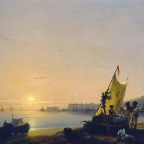 Айвазовский Неаполитанский залив и неаполитанцы