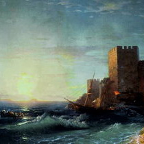 Айвазовский Башни на скале у Босфора
