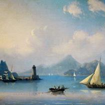Айвазовский Морской пролив с маяком