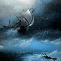 Айвазовский Буря на Ледовитом океане