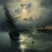 Айвазовский Парусник в бурном море