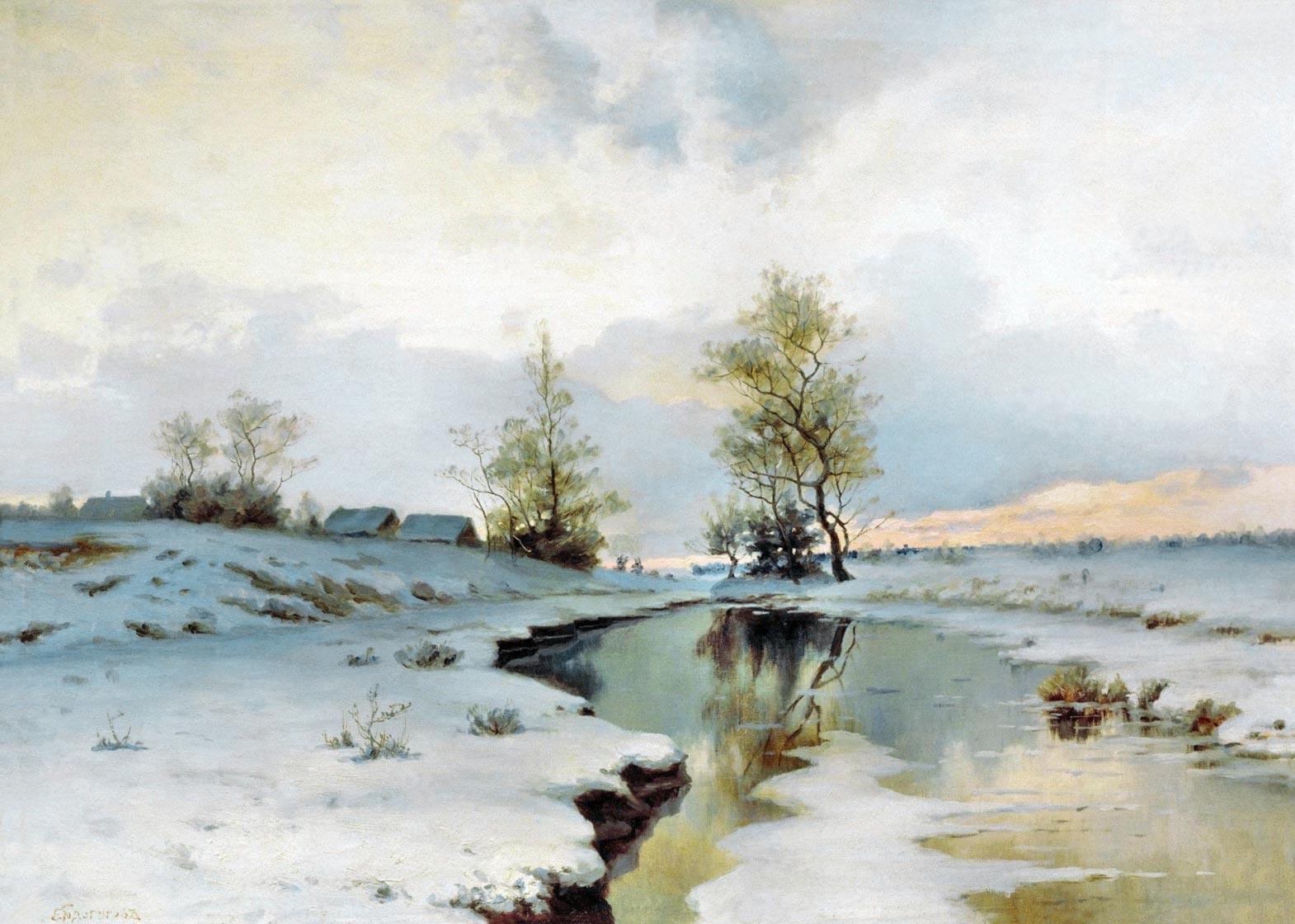 Обои пейзаж зимний