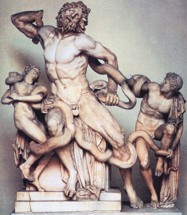 a comparison of doryphoros spear bearer and laocoon and his sons sculpture Greek sculpture from the classic period to the late hellenistic doryphoros (spear bearer) laocoon and his sons, c1c bce by.