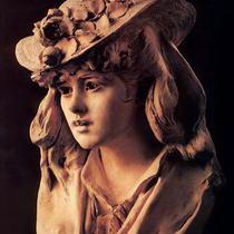Огюст Роден Девушка с розой на шляпе