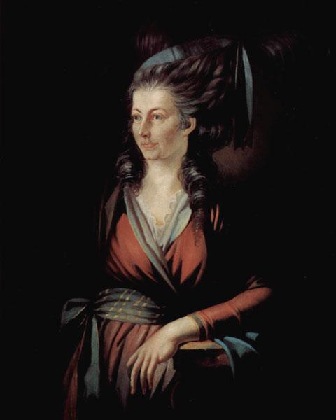 Портрет марии гесс 1779